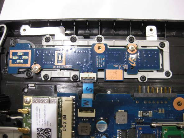 locations of the main PCB / WIFI card screws.