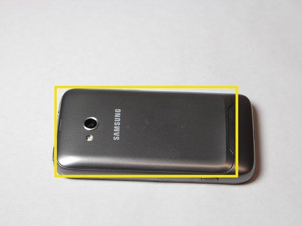 Image 1/3: Locate battery door and slide open.