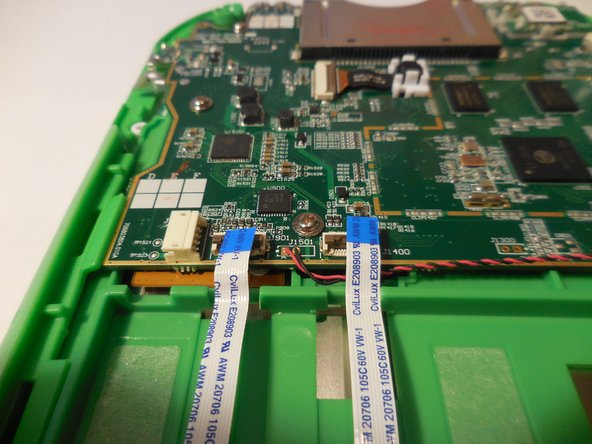 Disconnect the three wires that will be visible on top of the motherboard. The wires need to be disconnected by pulling them up vertically.