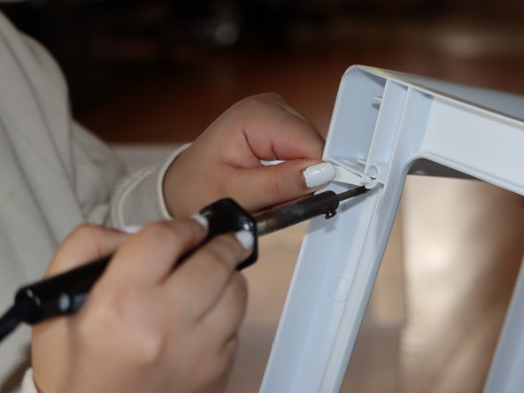 Use a heat gun or other heat source to fuse the broken hole.