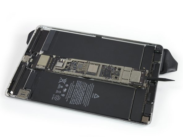 Elevate the left side of the iPad (long edge nearest the headphone jack) by placing an iOpener underneath, so that the iPad lays down at an angle.