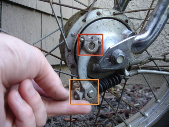 "Image 1/1: Then, tighten the brake cable adjusting nut with your fingers until your front brake lever is about 0.8 - 1.0"" from the handlebar when fully engaged."