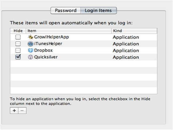 2) Login Items – Login items are irritating if irrelevant to your purpose. Also, they consume some space on Mac OS X hard disk drive during start up and often causes system to freeze for a while. Isn't wise to switch them the login items at start-up. To do so make visit to System Preferences > Accounts > Login Items, and unchecked irrelevant login items that you may not want to see at the start-up of your Mac.