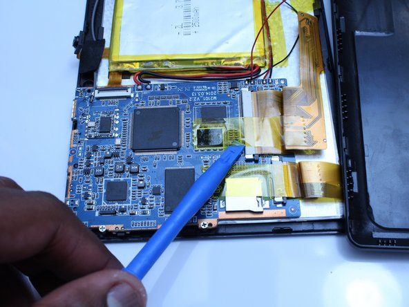 Remove only the yellow tape that touches the motherboard