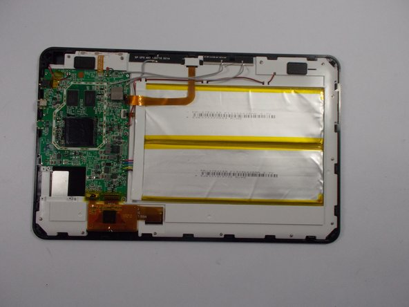 With the rear panel removed, the back side of the Flex 10.1 should look like this.