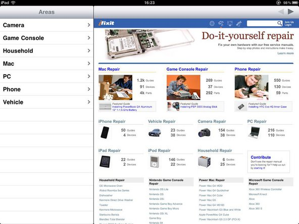 iFixit iPad app