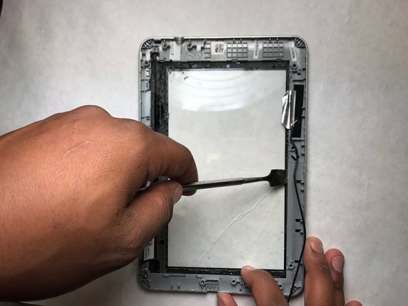 Peel the frame from the screen