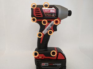 Milwaukee Hex Impact Driver 2656-20 Case  Disassembly