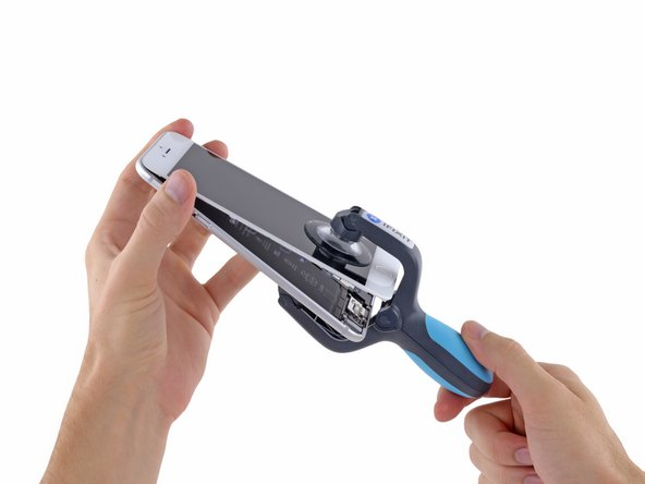 The iSclack is designed to safely open your iPhone enough to separate the pieces, but not enough to damage any of the display cables.