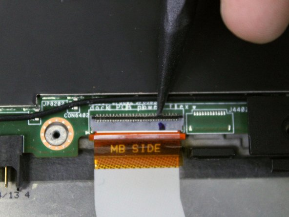 Pulling the ribbon cable out before unlocking the connector can potentially damage the cable.