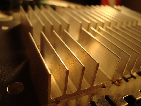 A closer view of the beautiful heat sink.