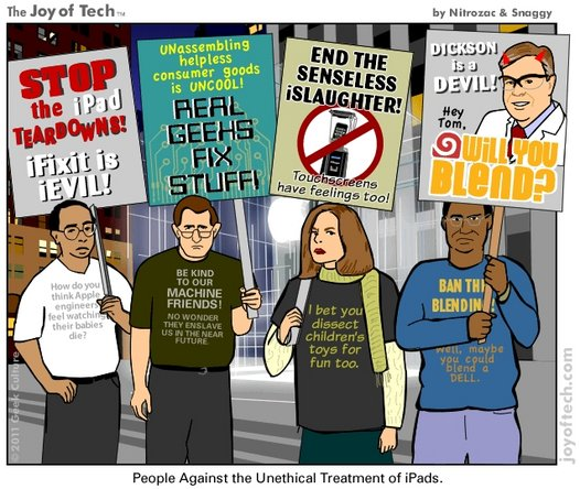 Geek Culture image about the ethical treatment of iPads