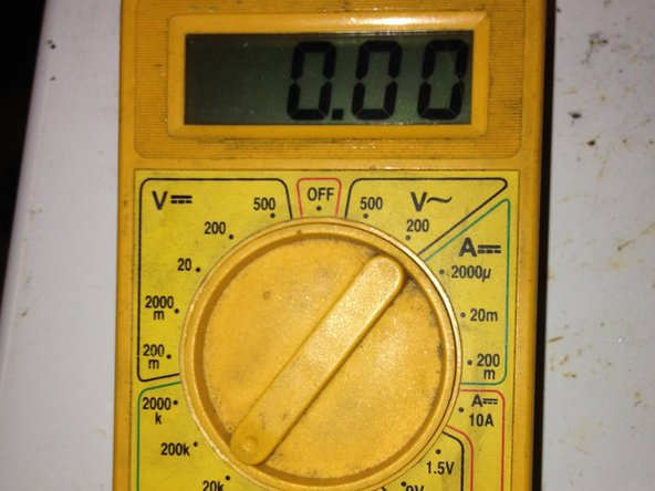 Set your multimeter to 20K Ohms.