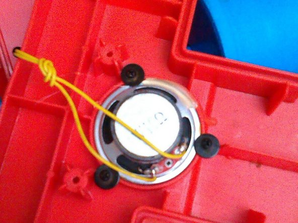 Remove the screws down the centre and across the front to release the wheel cover