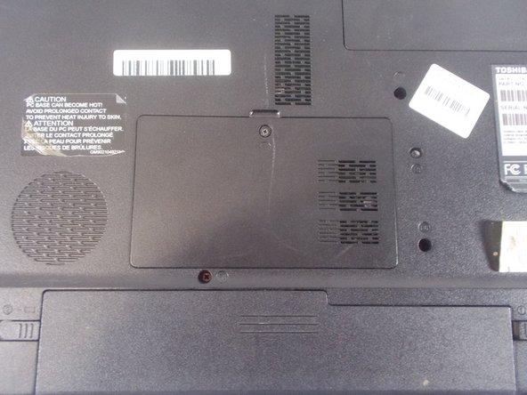 Ensure that your laptop is turned off and the battery has been removed
