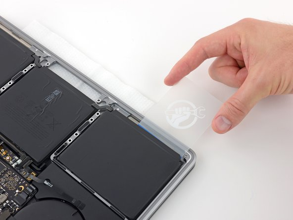 It may help to gently twist the card to open up a slight gap between the battery cell and the MacBook Pro's case.