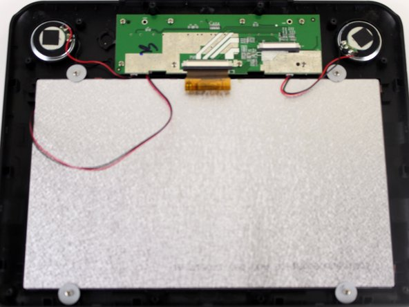 You'll see the PC board, back of the speakers, and the back of the screen.