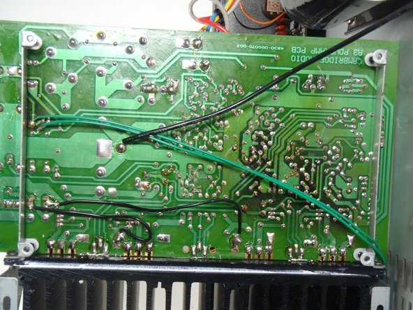 De solder 4 wires coming from transformer.