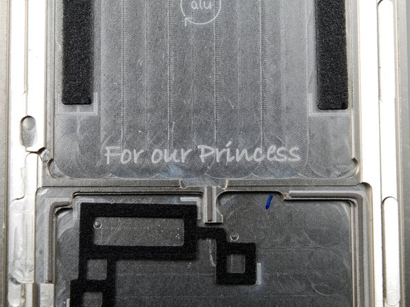 Engraving in the Zune HD machined aluminum case