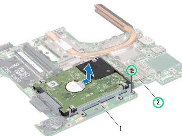 Dell Inspiron 1425 Reemplazo del conjunto de la unidad de disco duro