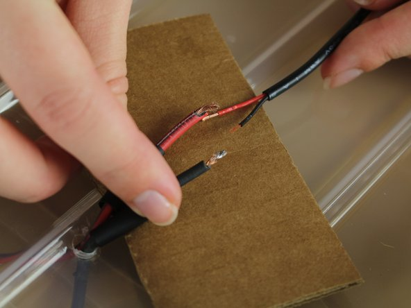 Image 2/3: Make sure you solder red to red and black to black.