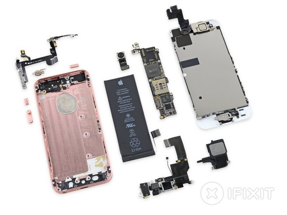 iPhone SE Repairability: 6 out of 10 (10 is easiest to repair)