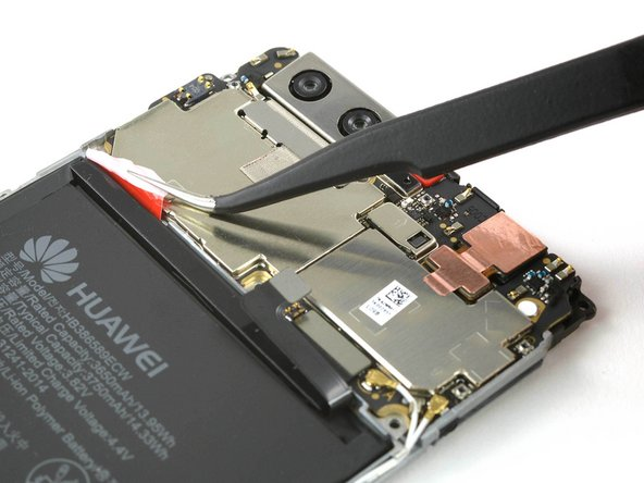 There is a stretch-release adhesive tab between the battery and the motherboard, use tweezers to pull them from the gap before you begin pulling.