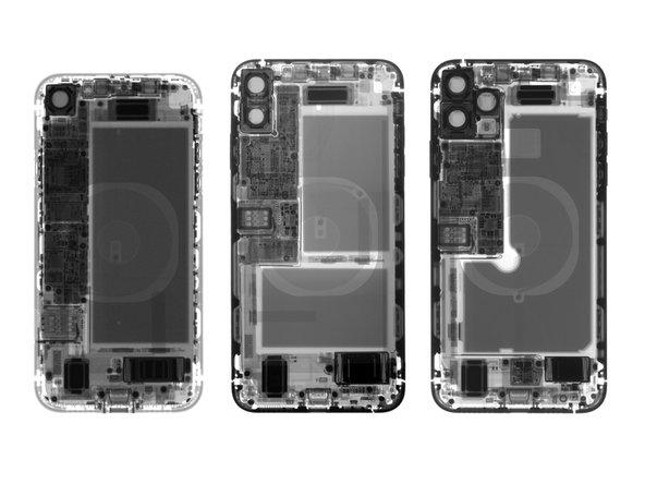 iPhone XR, XS Max와 11 Pro Max가 눈을 즐겁게 하기 위해 (왼쪽에서 오른쪽으로) 정렬되어 있습니다.