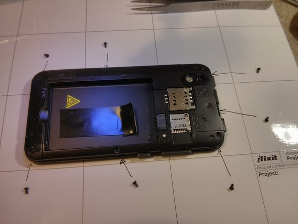 Image 1/3: with a tool start to open the back frame