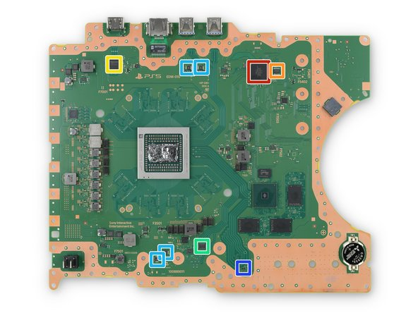 Additional chips aid in transferring data to and from the devices you connect to the PlayStation: