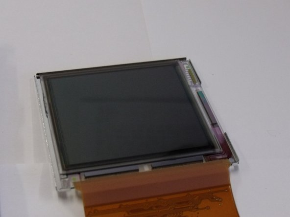 Peel of the protective film on the LCD screen and remove the LCD screen from the casing.