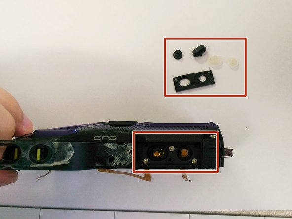 Replace the shutter/power button or button component.