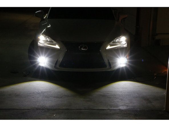 iJDMTOY Lexus IS F-Sport LED Fog Lights Installation