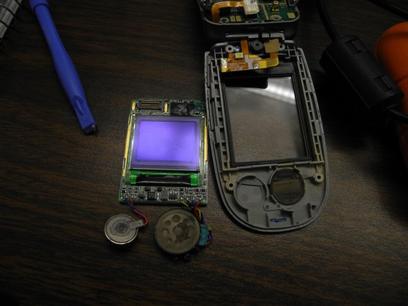 Remove the LCD screen and replace with a new one.