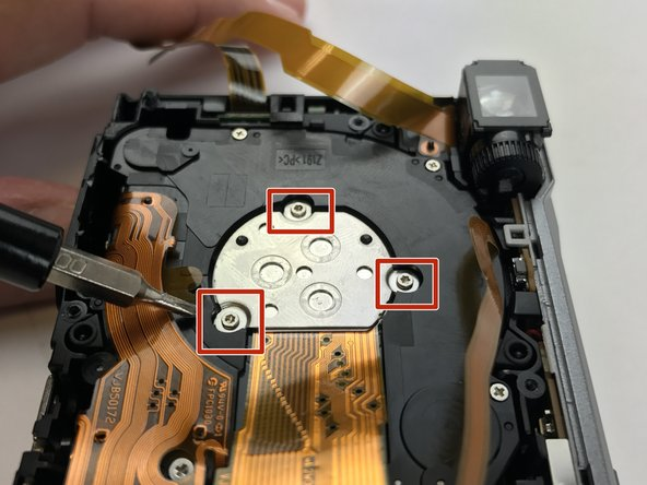 Using the T3 Phillips Screwdriver, unscrew the three Torx T3 2.5mm screws holding the sensor down.