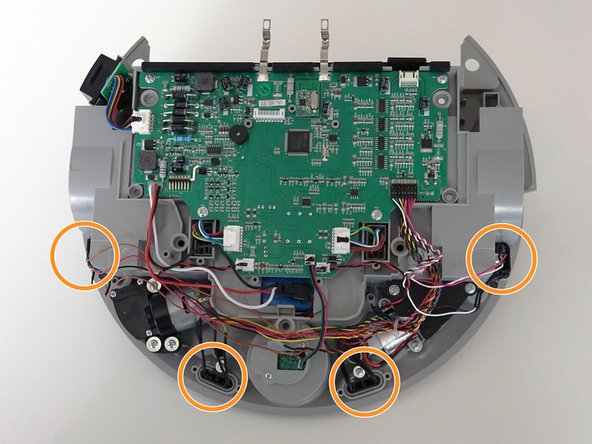 Image 1/2: They attach to the left side of her mainboard. Pull to remove the circuit plug.