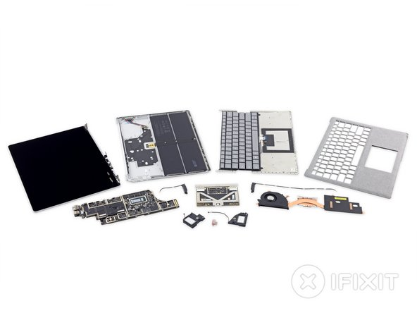 The Surface Laptop is finally vanquished disassembled!