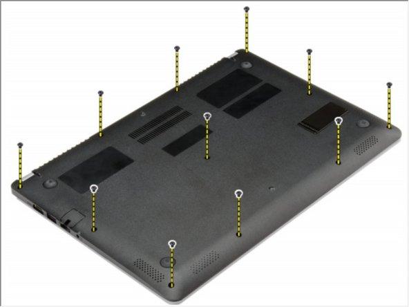 Reemplazo de la cubierta de la base Dell Vostro 5470
