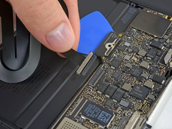 Disconnect the trackpad cable from the logic board by gently pulling it straight out of its connector.