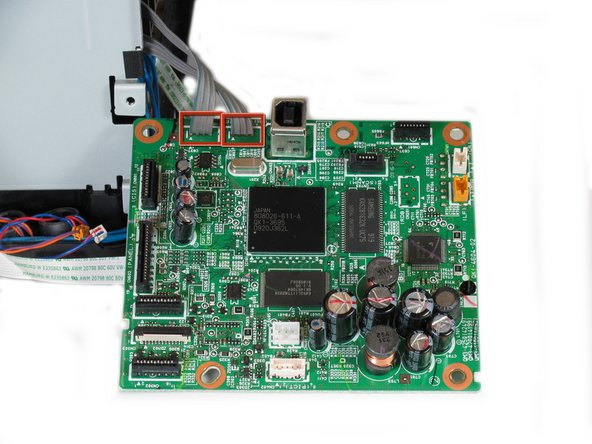 Once all wires and screws have been removed, gently take the motherboard out of the printer.