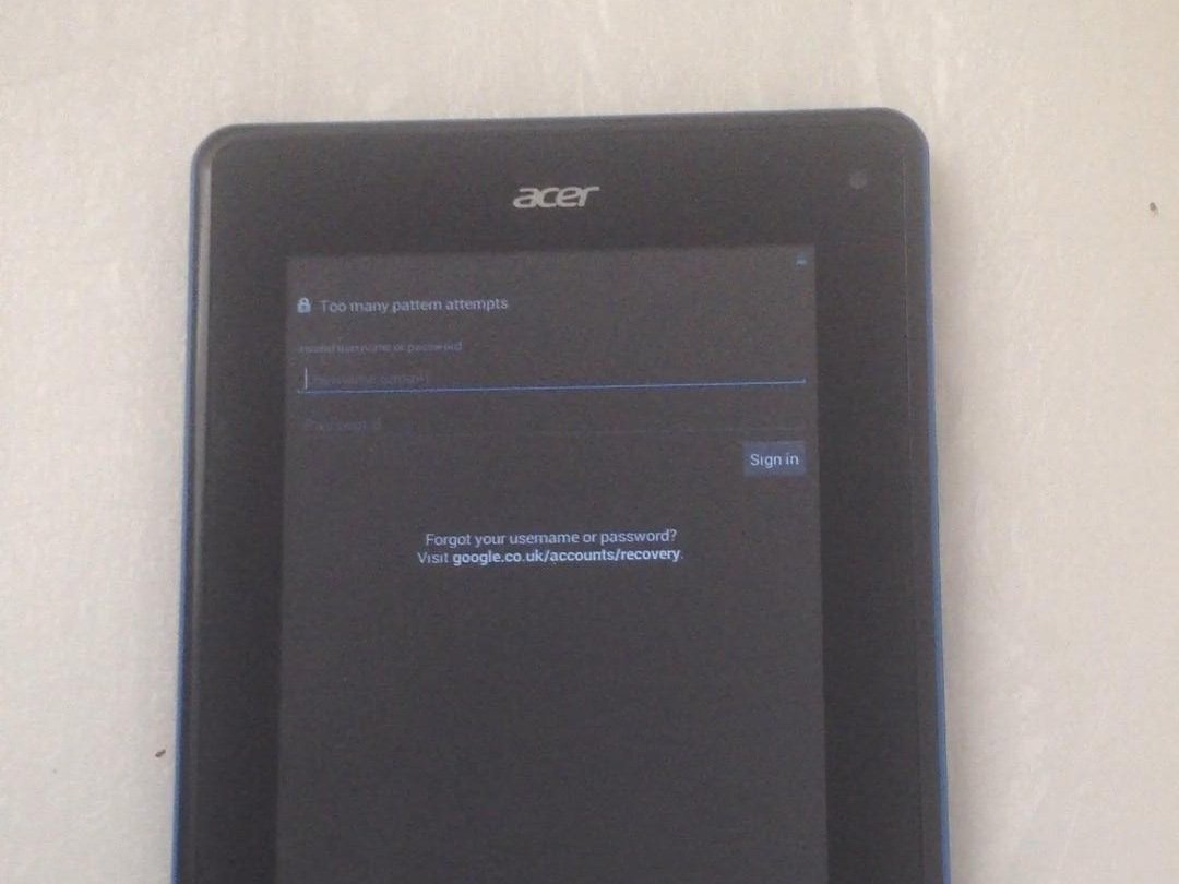 acer tablet iconia one 10 hard reset