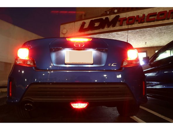 How to Install Scion tC LED Rear Fog Light
