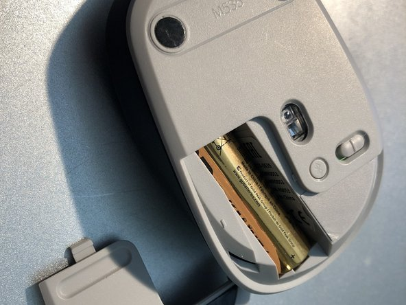 Slide the cover open to get to the battery