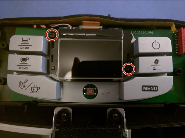 Remove the two screws on each side of the LCD screen.