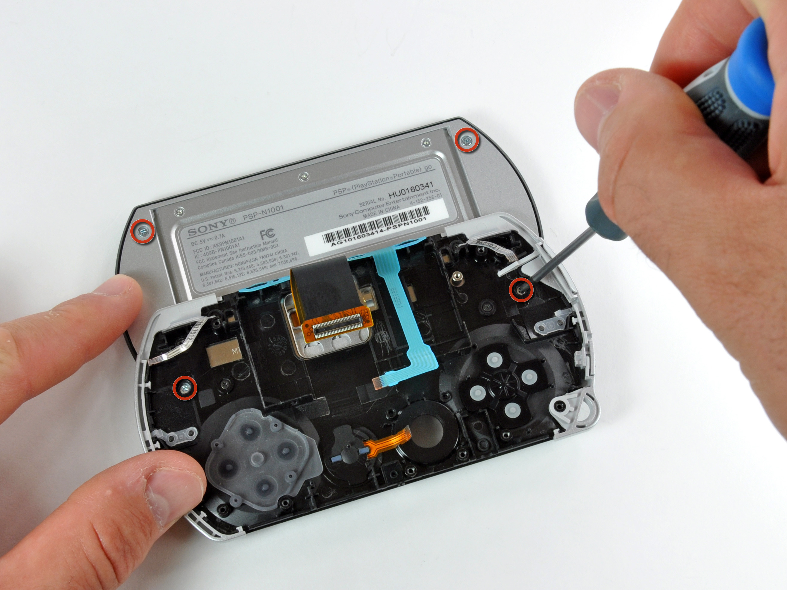 psp go display replacement ifixit repair guide rh ifixit com