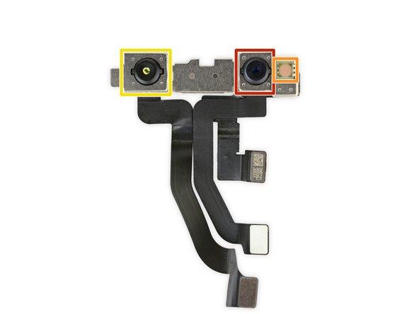 El primer paso en este sistema: el iluminador unido a la pantalla emite luz infrarroja a tu cara.