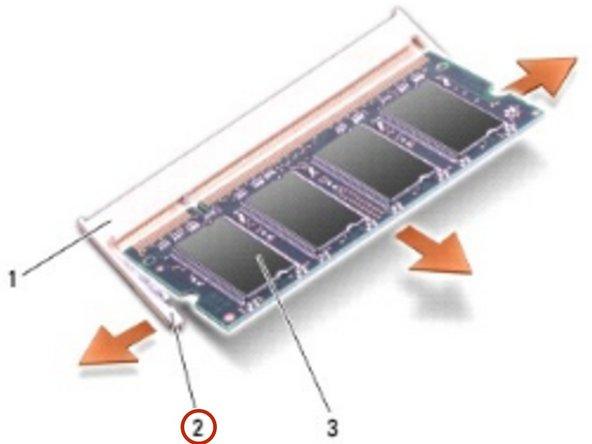Reemplazo del módulo de memoria Dell Inspiron 1318