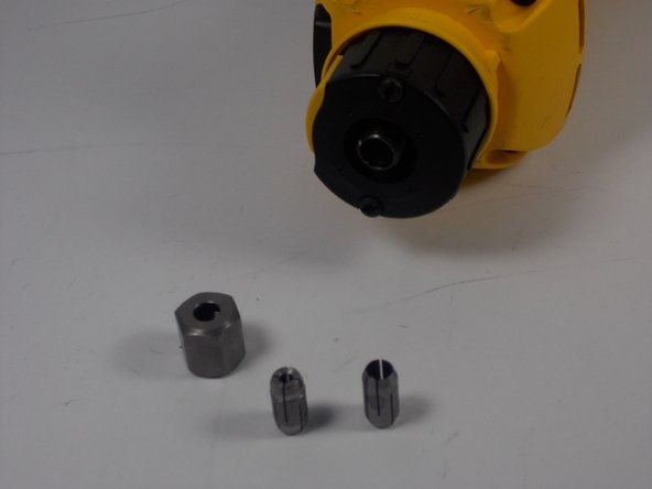 Remove the collet.