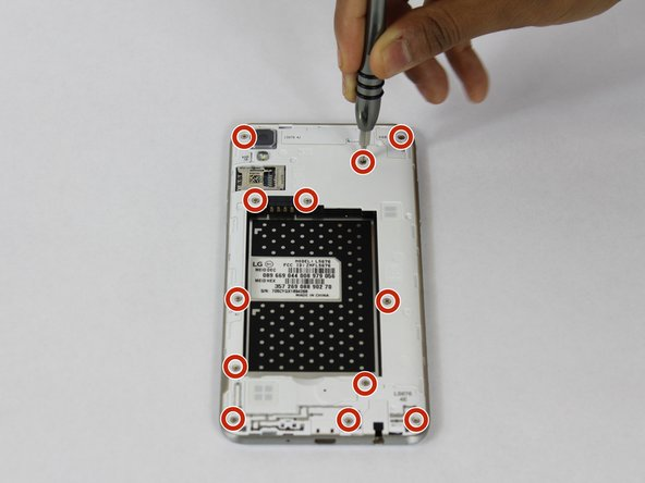 Remove the 12 - 2 mm Phillips head screws.