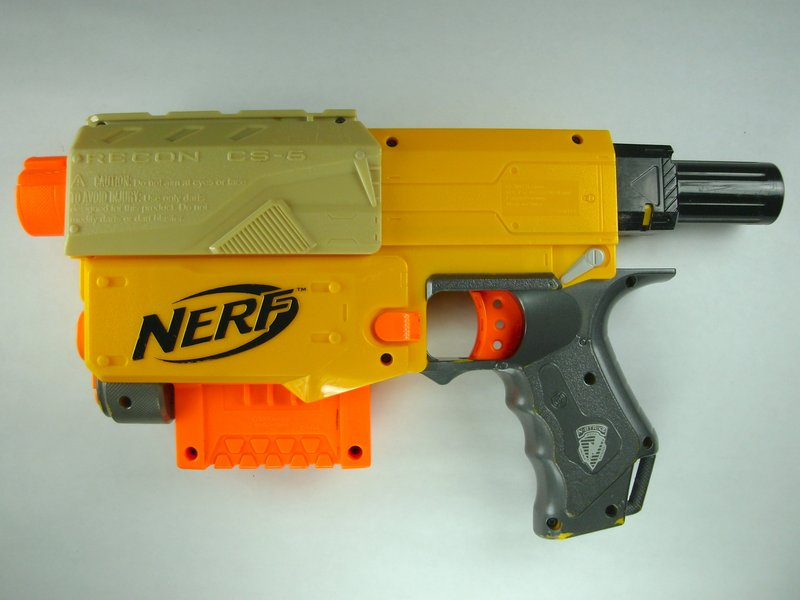 Nerf N-Strike Recon CS-6 Sniper Rifle Blaster Gun Laser Targeting Light no